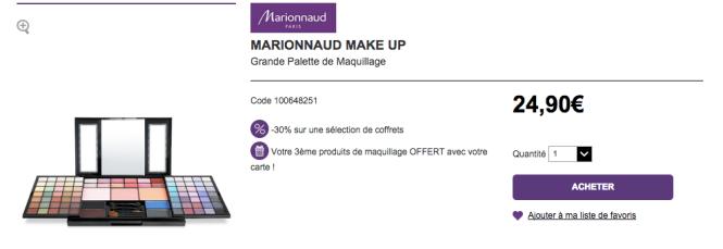 Palette Marionnaud -30%