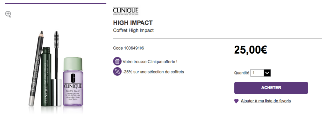 Coffret maquillage Clinique -25%