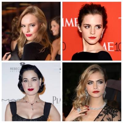 robe-noire-bouche-rouge